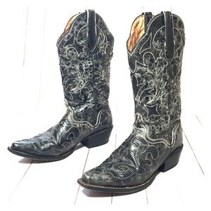 Cowboy boot J.B. Dillon black JBW2200 sz 7.5